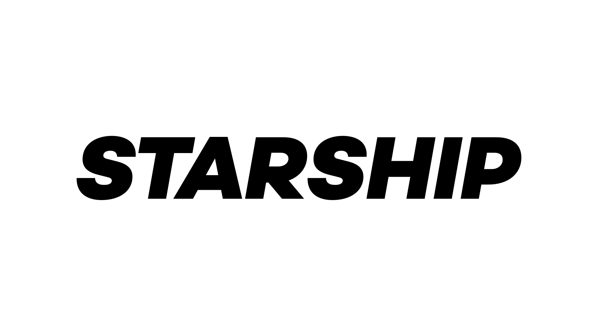Starship logo black